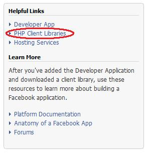 facebook php client libraries link
