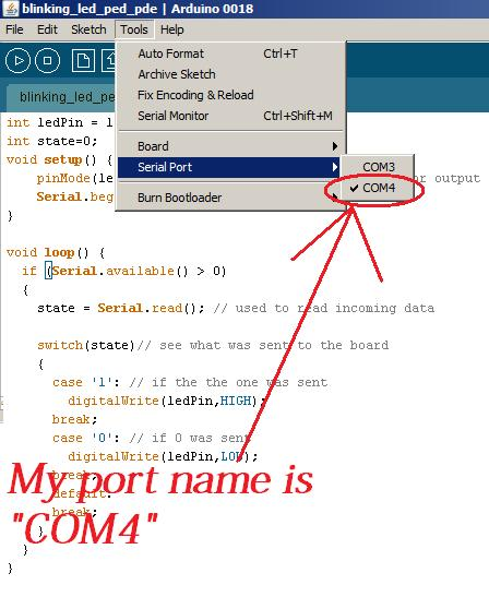 Arduino Port Name