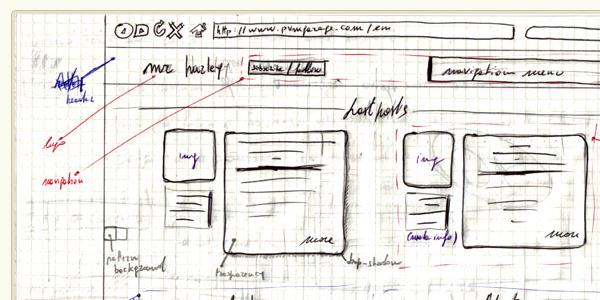 wireframe of website