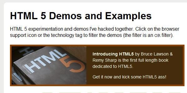 html5 demonstrations
