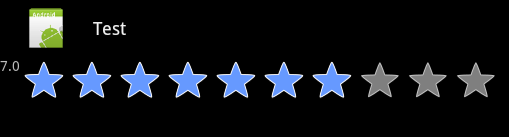 android star rating bar